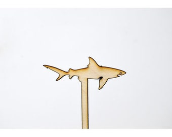 Laser Cut Toppers - Shark - TR-033 - PK of 6 for Cakes, Cupcakes, Donuts and More
