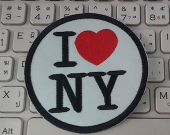 I Love NY Iron on Patch - Newyork Applique Embroidered Iron on Patch