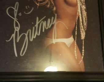Autographed and Framed photo of Brittney  spears with COA