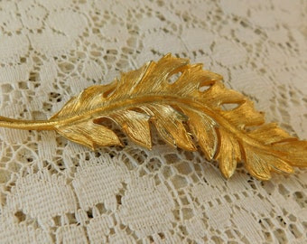 Feather Pin, Feather Brooch, Vintage Brooch, Coro Brooch, Coro Pin