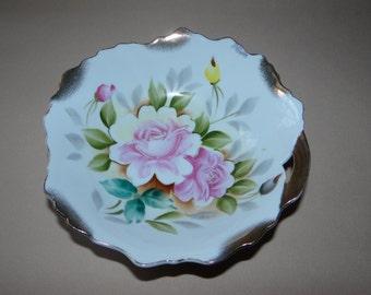 Vintage Porcelain Bowl by Lipper & Mann Rose Pattern 62/17R  from Czechoslovakia