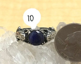 Frog Sapphire Ring Size 10