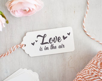 Love is in the Air Stamp | Valentines Stamp - Happy Valentines Day - Wedding Stamp - Romantic Sentiment