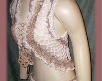 Sand & Sea Shrug Vest Crochet Pattern