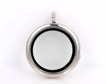 30mm Silver Magnetic Open Floating Locket/Memory Locket/ Living Locket
