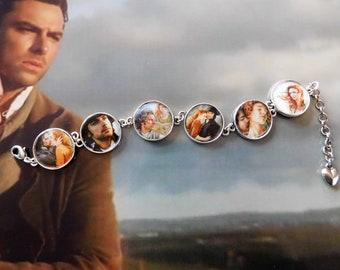 The Great Love  Ross and Demelza Poldark Cornwall cameo charm bracelet