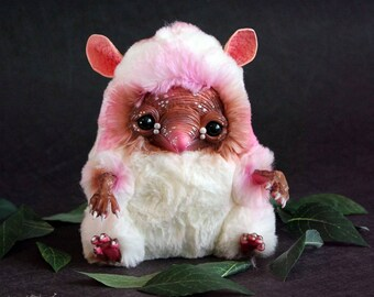 Fantasy Animal - Pink Meegle, plushies, soft toy, toys handmade
