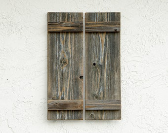 Rustic Shutters. Set of 2.  Rustic Barn Doors. Rustic Wall Decor. Farmhouse Shutters. Rustic Window Shutters. Farmhouse Decor. SM