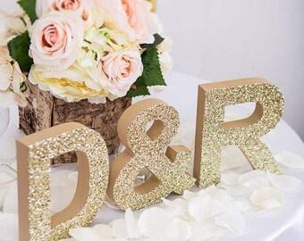 Wedding Glitter wood letter - gift party wedding decoration