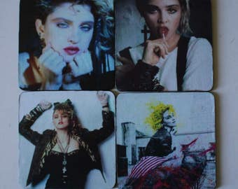Madonna Coasters 1980s Actress Singer Performer  Desperately Seeking Susan  The BEST Era Great Gift Birthdays Unique Gift Custom Made