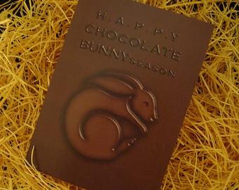 Easter Card - Happy Chocolate Bunny Season