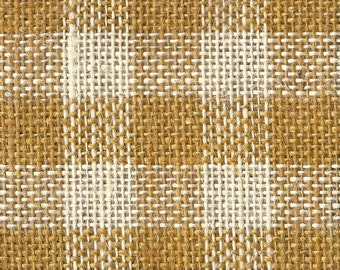 Moda - Rug Hooking Jute - Gold White Grid - By the Yard