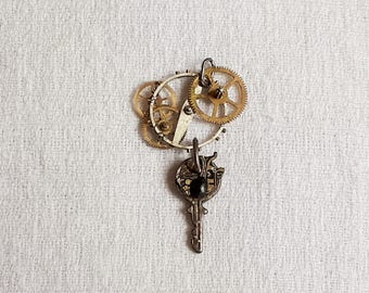 "Steampunk ""small key"" pendant"