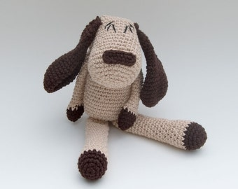 PDF Crochet Pattern - Playful Cotton Puppy