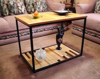 Salvaged wood & metal coffee table.