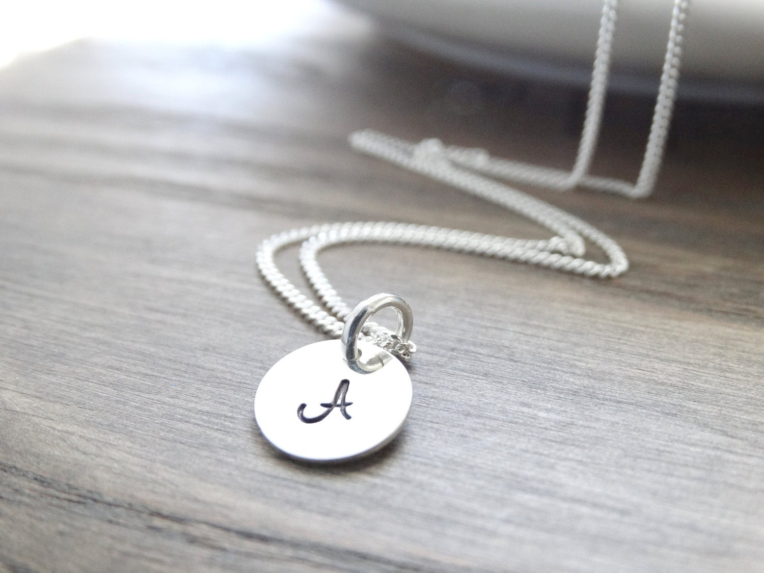 Initial necklace sterling silver monogram necklace silver initial initial necklace sterling silver monogram necklace silver initial necklace silver letter necklace alphabet charm necklace aloadofball Images