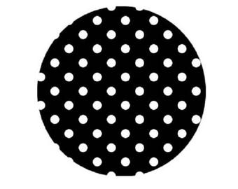 18mm, small white dots on black
