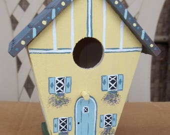 Small Yellow Birdhouse #263