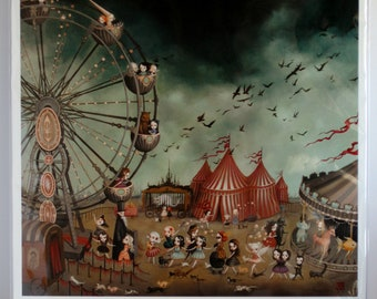 The Ferris Wheel - Limited Edition signed and numbered 16x16 Fine Art Print by Mab Graves -unframed