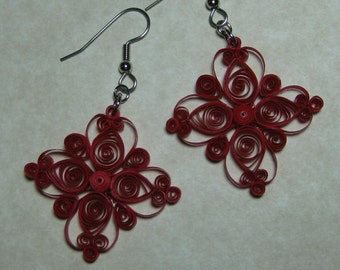 Lacy Square Earrings