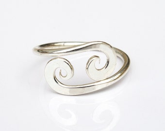 Dainty Knuckle Ring - Silver Midi Ring Worn Above Knuckle Sterling Midi Ring Silver Knuckle Ring