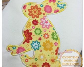 Bunny Silhouette 3 Machine Embroidery Applique Design