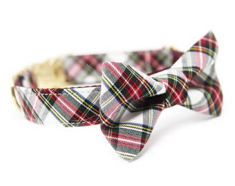 Plaid Bowtie Collar, Personalized Tartan Collar - The Westwood
