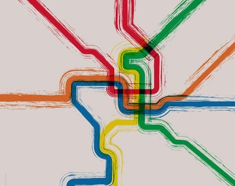 Washington DC Metro Poster - 20x20