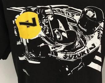 Barry Sheene No7 black tshirt