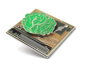 The Official Lettuce 'Funk Turntable' Spinner Pin - Streetwear Lapel Music Festival Bassnectar Trippy