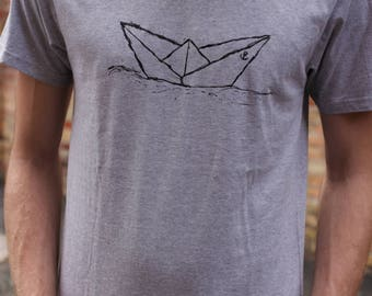 Paperboat T-Shirt Fair Trade & Organic Cotton _ grey