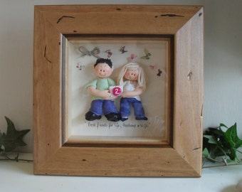 PERSONALISED ANNIVERSARY, Retirement, Celebration Gift, Custom Made Polymer Clay Character Pictures