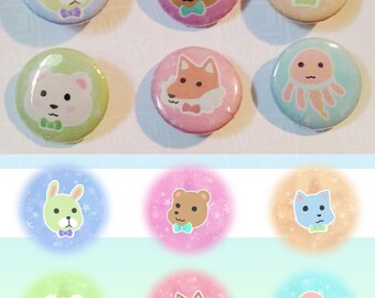 Cute / Kawaii Animal Buttons
