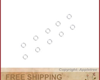 10 14K Solid White Gold Jump Rings 3mm Jumpring Wire 24 gauge Top Quality 14KT
