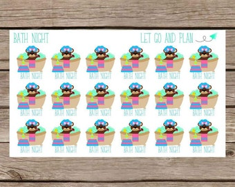 Bath Night Stickers