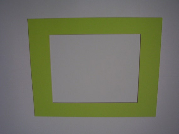 Picture Framing Mat Lime Green 11x14 for 8x10 Photo or Art