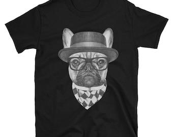 French Bulldog Hipster Shirt