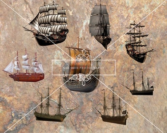 Buy 3 get one free. Old Pirate Ship Overlays, High Resolution Instant Download.
