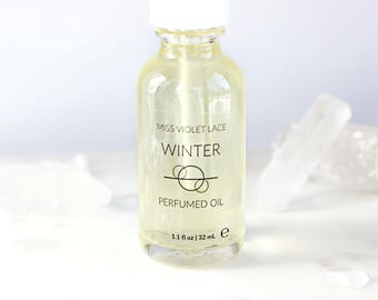 Winter Perfume Oil | Snow Covered Woods, Winter Forest | 100% natural and vegan body oil