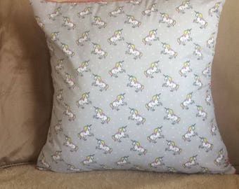 Grey Unicorn Cushion Cover