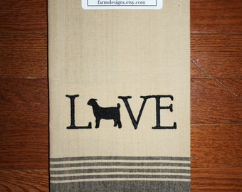 goat kitchen towel ~ goat decor ~ goat lover ~ 4H goat ~ welcome towel ~ goat collector gift