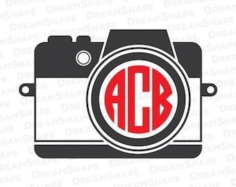 Camera SVG Files, Photography SVG Cut Files, Camera Svg Cutting Files, Monogram Camera Cuttable File, Camera SVG Files, Instant Download