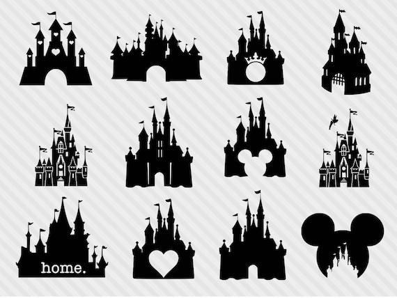 disney castle svg bundle disney castle clipart castle svg rh etsy com disney castle clip art free disney castle clip art free