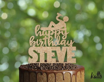 Birthday cake topper- Silhouette Birthday cake topper- Personalized cake topper- Personalized Birthday Cake Topper- Custom cake topper