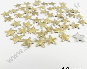 Fusible Star - Gold matte - 10 mm - x 50pcs