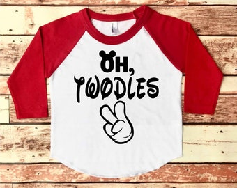 Oh Twodles Shirt, Oh Twodles, Mickey Mouse Birthday Shirt, Mickey Mouse Birthday Shirt Boy, Mickey Mouse Birthday, 2nd Birthday Shirt