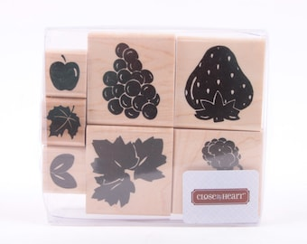 Fruit, Close to my Heart, Stamp, Set, Card Making, Crafts, DIY, Leaves, Apple, Grapes, Strawberry, VIntage ~ 160921C
