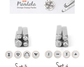 IMPRESSART - Mandala Metal Stamp Set 3 or Set 4 | Mandala Metal Design Stamps | New From ImpressArt |  Mandala