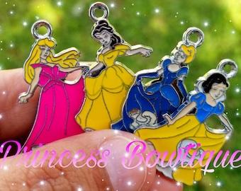 Princess charms, metal charms, bracelet charms, charms,  pendants
