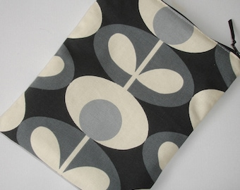 Case Cover Pouch Sleeve Orla Kiely Oval Flower Cool Grey iPad / Kindle Touch Paperwhite Fire Voyage 7 8 HD / Samsung / Netbook
